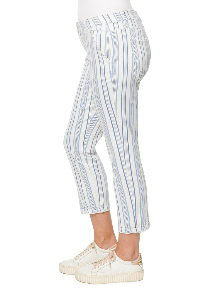 """Ab""solution® Blue & White Stripe Trouser"