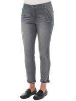 """Ab""solution Grey Vintage Luxe Denim Ankle Length Trouser"