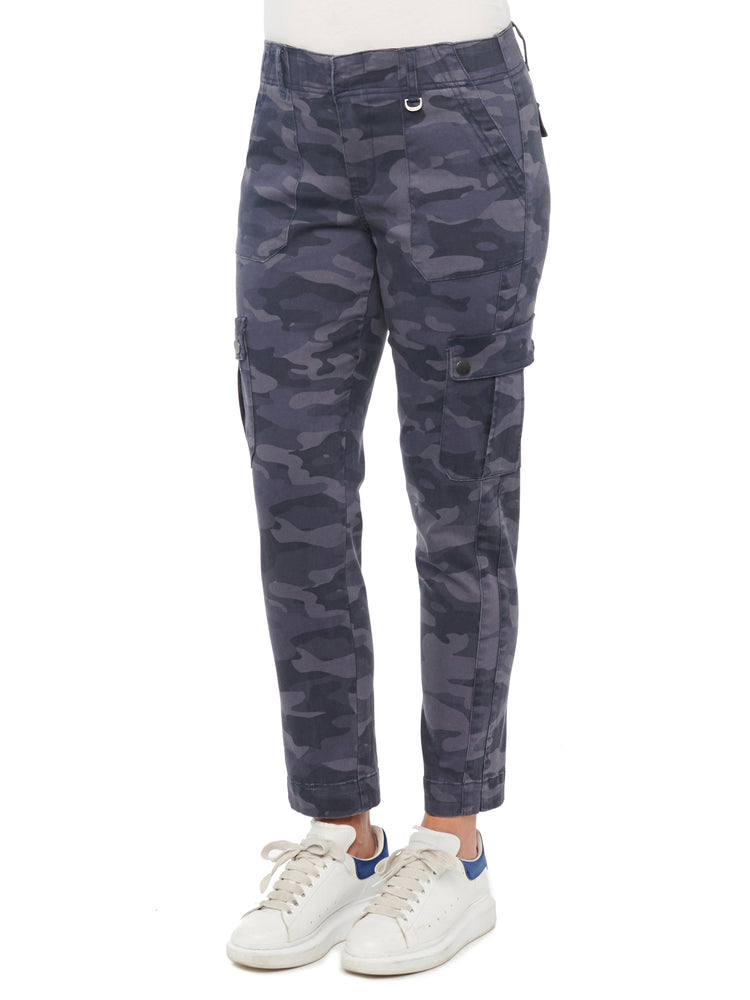 Absolution High Waisted Camo Cargo Pants With Patch Pockets