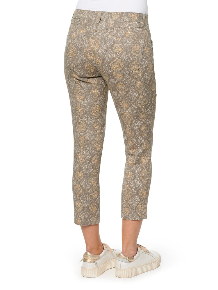 """Ab""solution Snake Zip Slim Crop Pant"