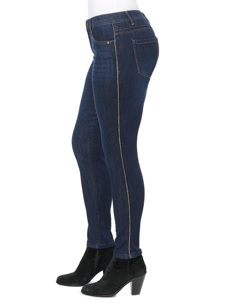 "Modern ""Ab""solution High Rise Gold Lurex Seam Jean"