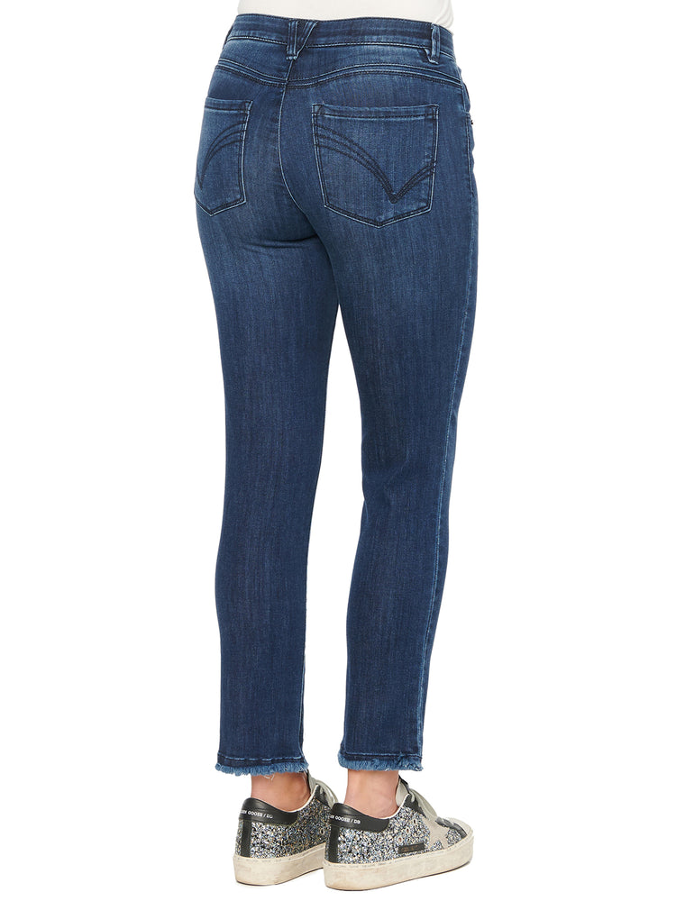 "Load image into Gallery viewer, ""Ab""solution High Rise Slim Straight Indigo Jeans"