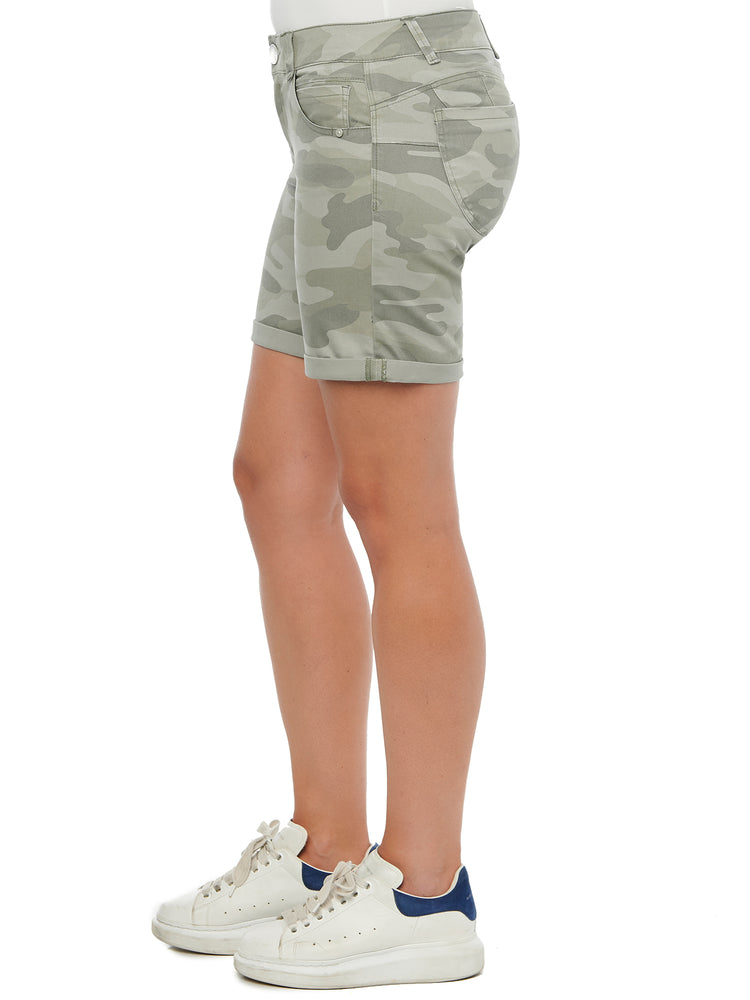 """Ab""solution 7"" inseam Stretch Camouflage Shorts"