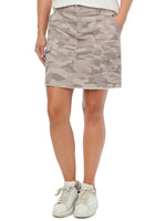 """Ab""solution Cargo Patch Pocket A-Line Camouflage Skirt"