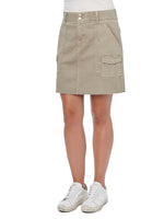 """Ab""solution Cargo Patch Pocket A-Line Moonrock Skirt"
