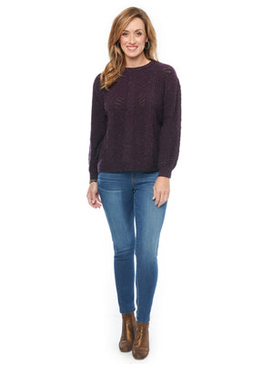 Load image into Gallery viewer, Long Sleeve Detachable Turtleneck Cable Stitch Plus Sweater