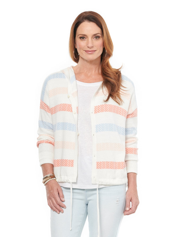 Stripe Cardigan Sweater
