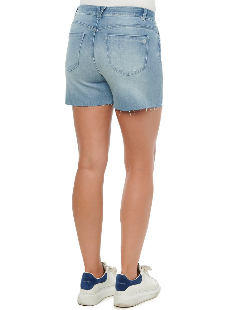 """Ab""solution High Rise Light Blue Vintage 4"" Denim Shorts"