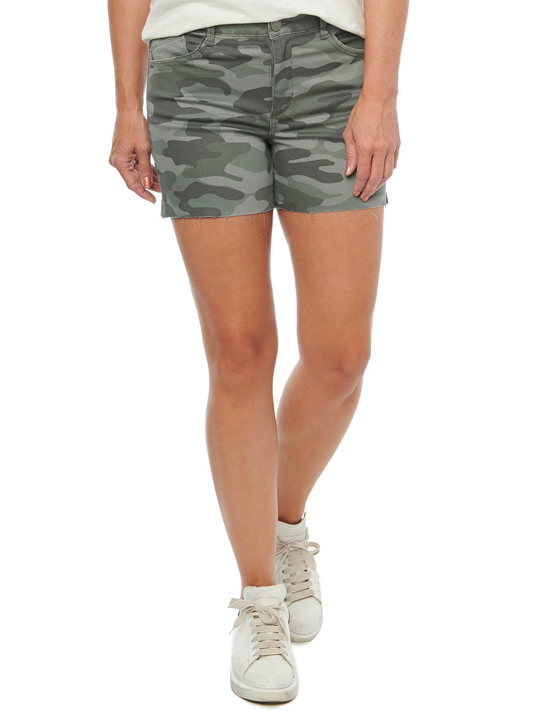 """Ab""solution High Rise Stretch Camo 4"" Inseam Shorts"