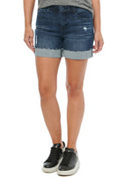 """Ab""solution High Rise Blue Vintage Distressed Denim 5"" Short"