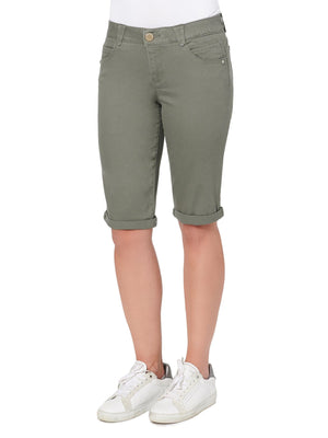 """Ab""solution Stretch Bermuda Shorts Dusty Olive"