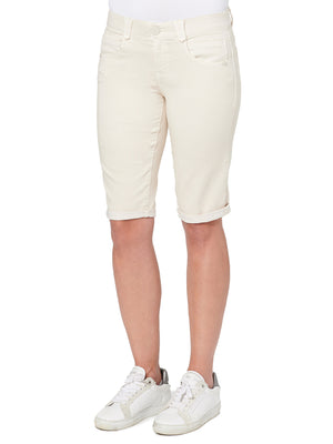 """Ab""solution Booty Lift Stretch Cotton Bermuda Short Pale Stone Cream"