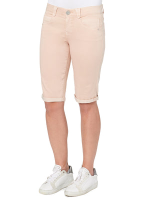 """Ab""solution Booty Lift Stretch Cotton Bermuda Short Sand Stone"