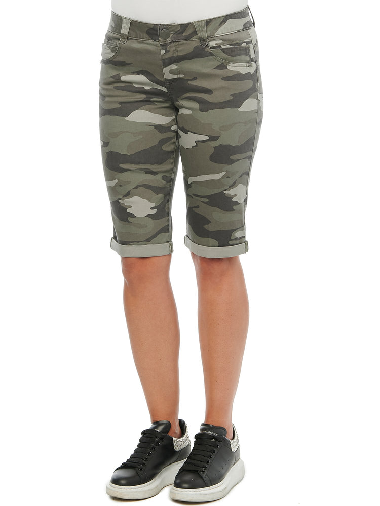 """Ab""solution Stretch Camouflage Bermuda Shorts"