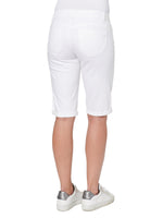 """Ab""solution White Petite Bermuda Short"