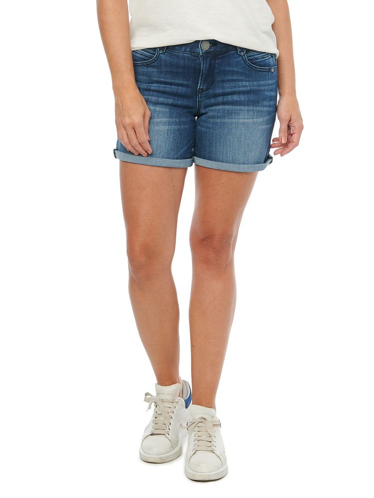 """Ab""solution Blue Luxe Denim 5"" Shorts"