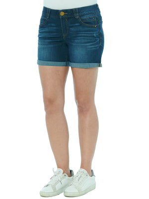 Load image into Gallery viewer, Absolution 5 Inch Inseam Distressed Indigo Denim Shorts