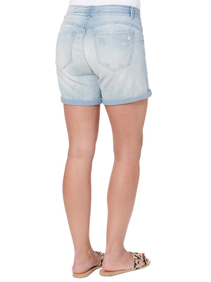 """Ab""solution 5"" Inseam Light Blue Denim Short"