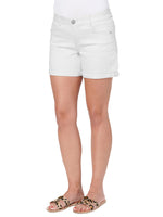 """Ab""solution 5"" White Denim Shorts"