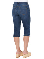 """Ab""solution Blue Denim Skimmer Capri"