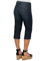 """Ab""solution Indigo Fray Hem Skimmer Capri"