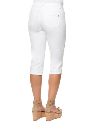 """Ab""solution White Skimmer Capri"