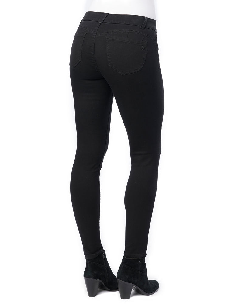 Stretch Black Denim Absolution Petite Jegging Jean Jeggings Back Pockets butt lifting