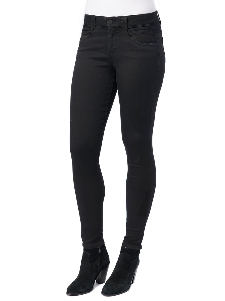 "Stretch Black Denim ""Ab""solution® Petite Jegging"