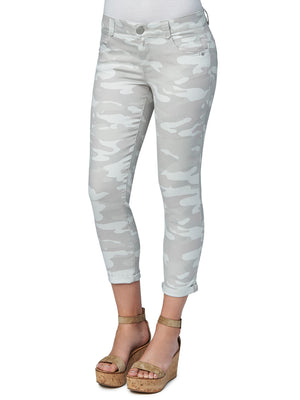 absolution stretch camouflage petite ankle skimmer colored jeggings