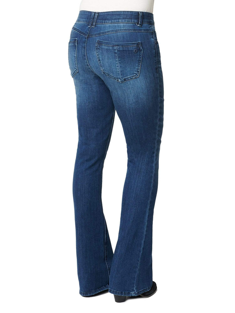 """Ab""solution Itty Bitty Boot Petite Blue Jeans"