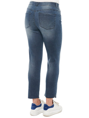 """Ab""solution Indigo Denim High Rise Vintage Skinny Petite Jeans"