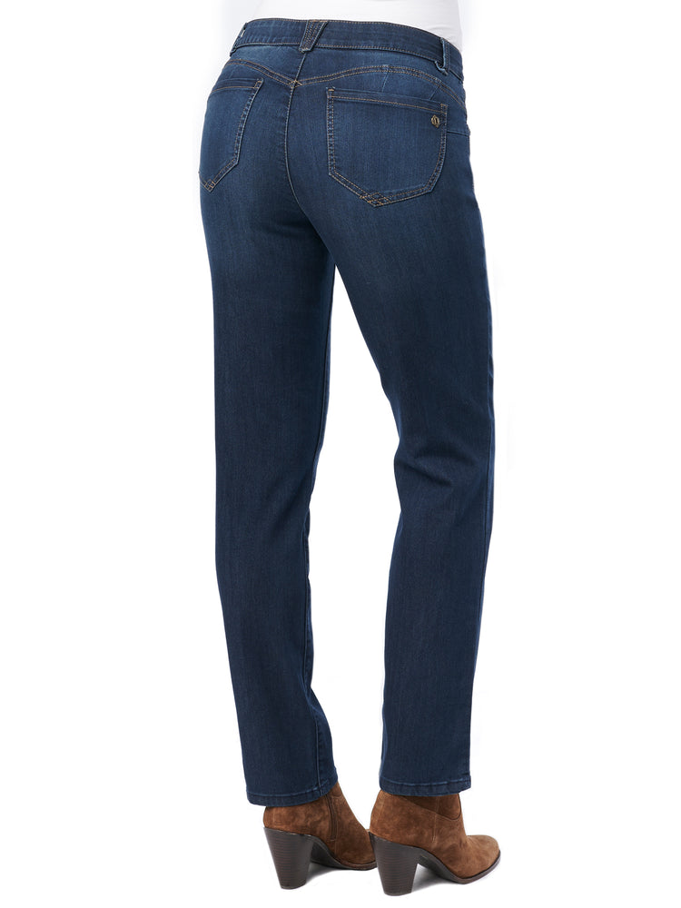 """Ab""solution Petite Straight Leg Indigo Jeans"