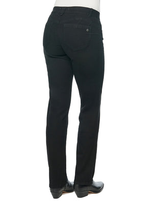 "Load image into Gallery viewer, ""Ab""solution Petite Straight Leg Black Jeans"