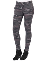 """Ab""solution Side Zip Camo Jegging Petite"