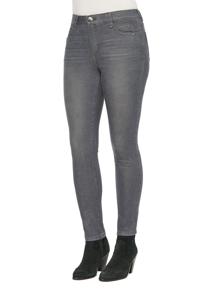 """Ab""solution High Rise Ankle Length Grey Petite Jeans"