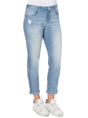 """Ab""solution High Rise Slim Straight Luxe Petite Denim Jeans"