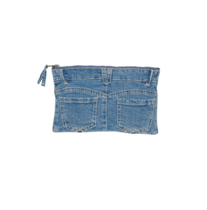 Load image into Gallery viewer, Democracy Logo Denim Cosmetic Bag
