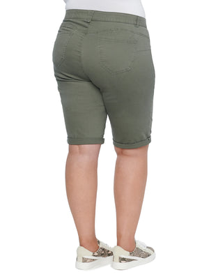 """Ab""solution Olive Bermuda Plus Shorts"