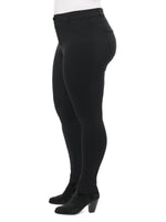 "Stretch Black Knit Ponte High Rise ""Ab""solution® Plus Jegging"