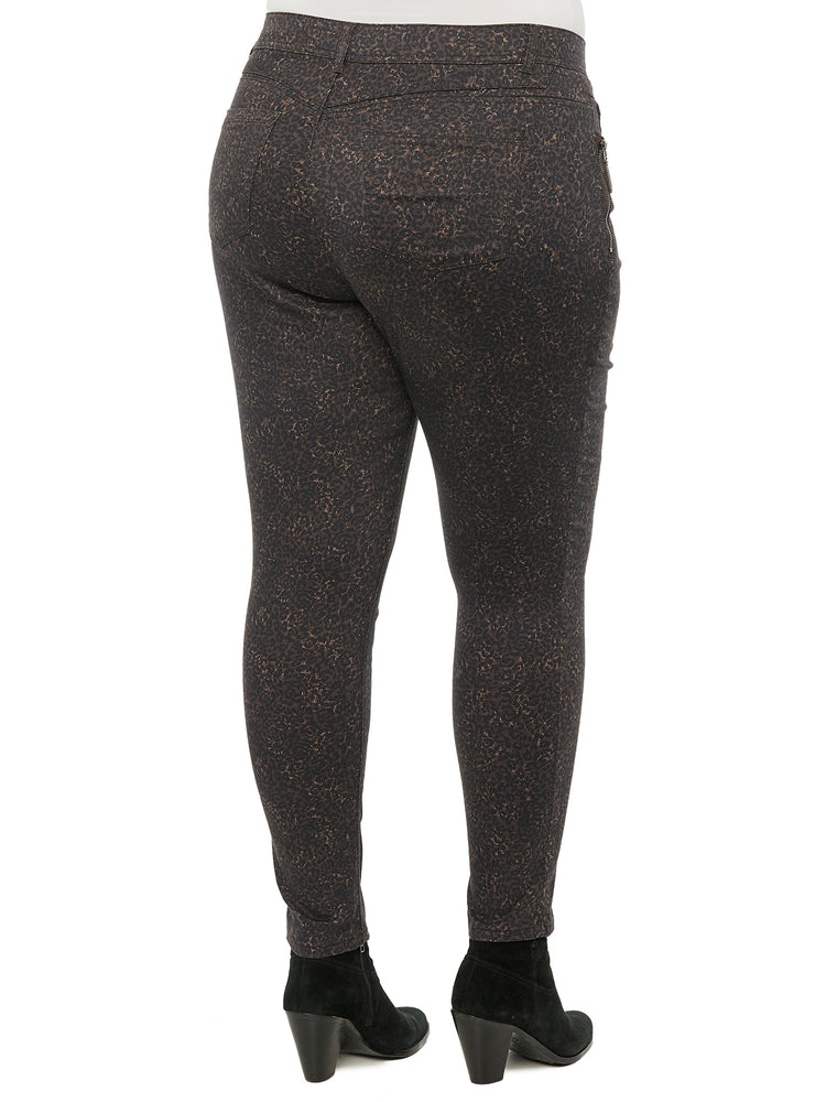 "Load image into Gallery viewer, ""Ab""solution Side Zip Plus Animal Print Jegging"