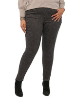 """Ab""solution Side Zip Plus Animal Print Jegging"