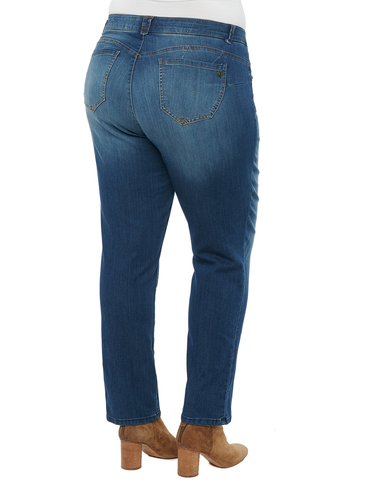 """Ab""solution Blue Straight Leg Plus Jeans"