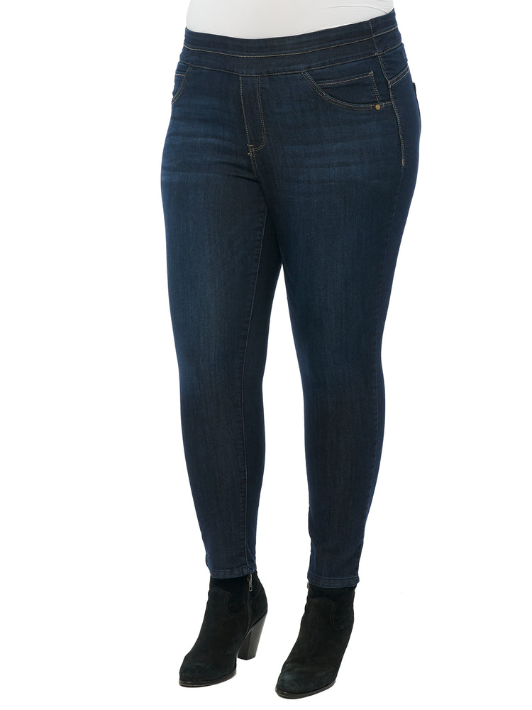 """Ab""solution Ankle Length Plus Indigo Glider Jean"
