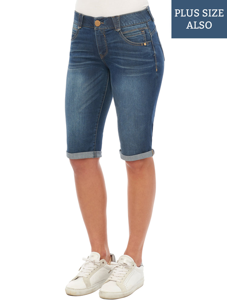 """Ab""solution Blue Bermuda Shorts"