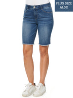 """Ab""solution High Rise Blue Bermuda Shorts"