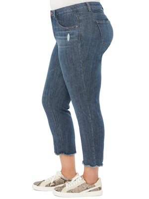 """Ab""solution High Rise Crop Slim Straight Leg Plus Jeans"