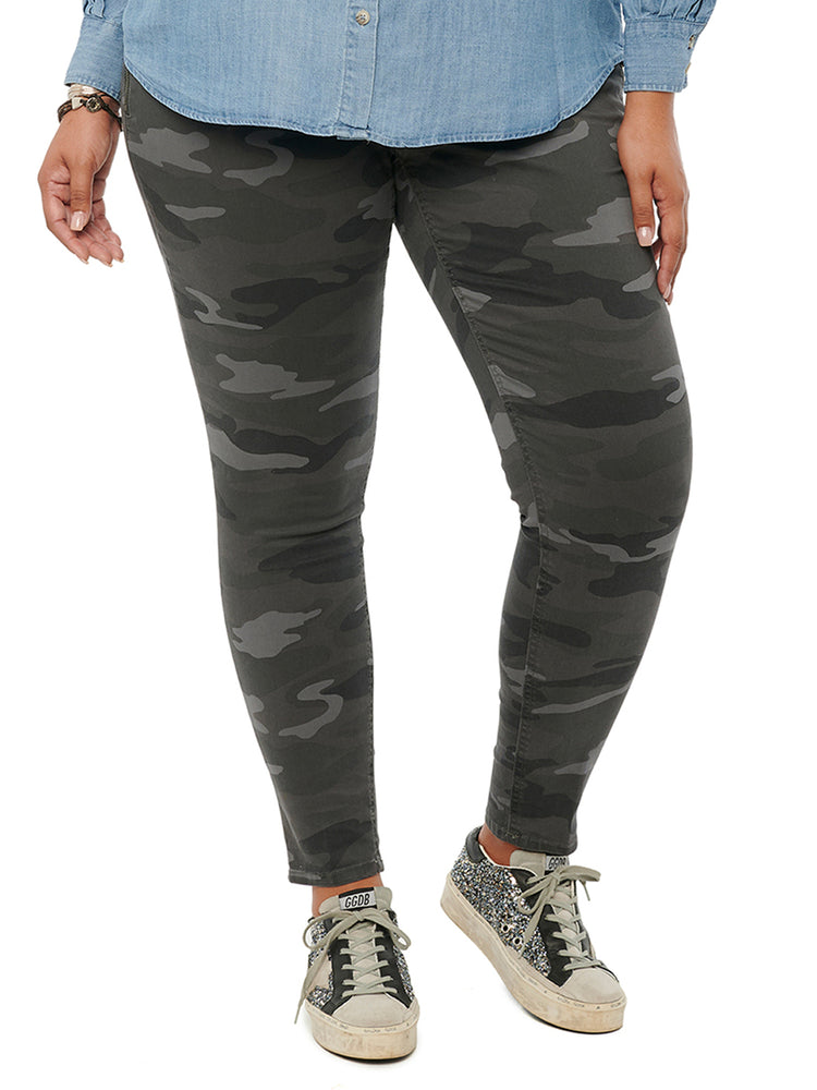 Charcoal Stretch Camouflage Absolution Size Zip Camo Plus Jegging Pant