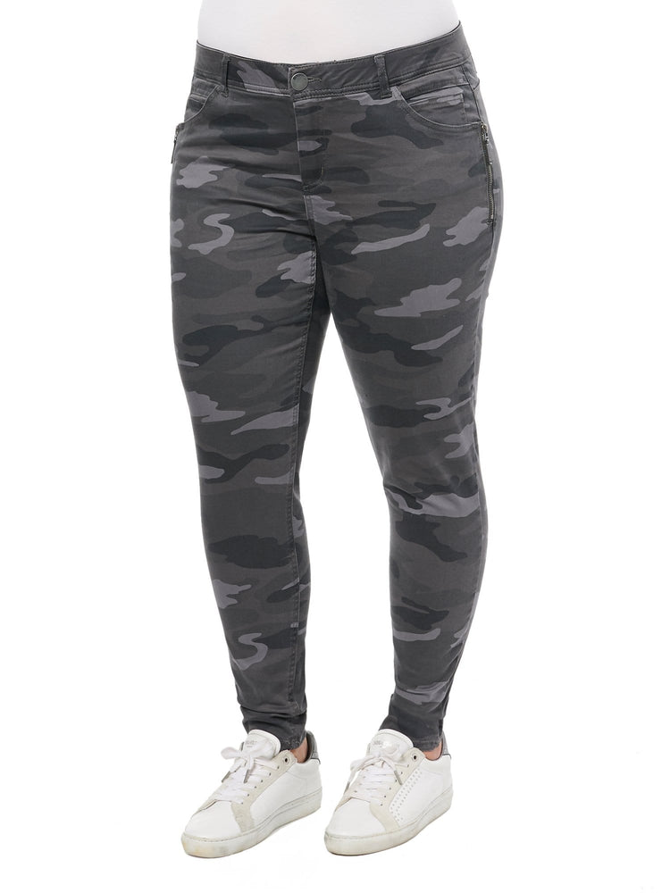 "Stretch Camouflage Side Zip ""Ab""solution® Plus Jegging"