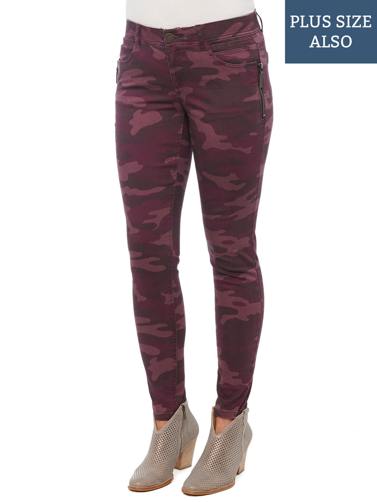 """Ab""solution Stretch Camouflage Side Zip Plus Jegging"