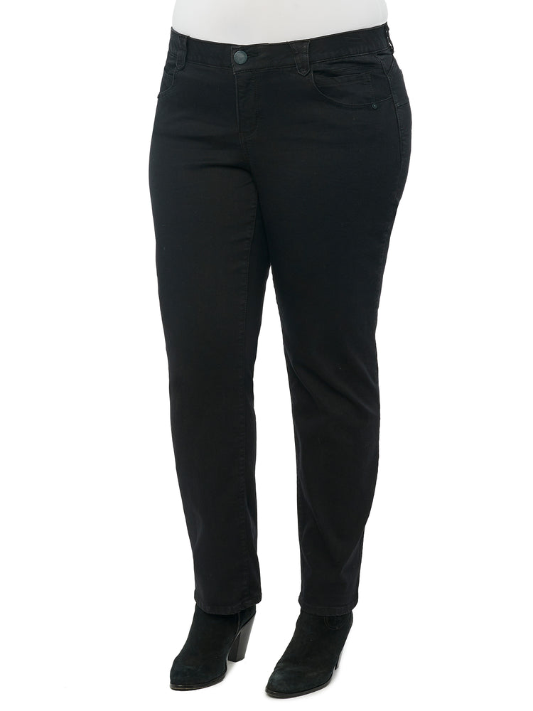 """Ab""solution Booty Lift Black Denim Straight Leg Plus Jeans"